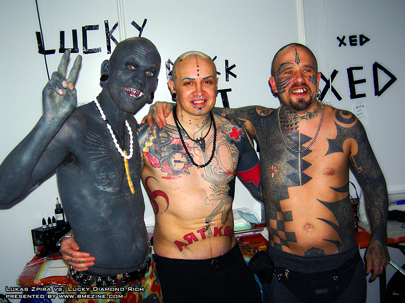 6/7/2006: Most tattooed man Lucky Diamond Rich - The Cellar