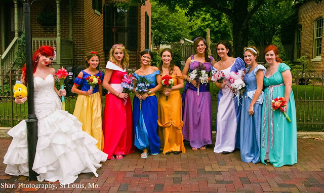 Okay So This Hened A Disney Themed Wedding Where All The Bridesmaids Were Various Princesses And Bride Was Ariel