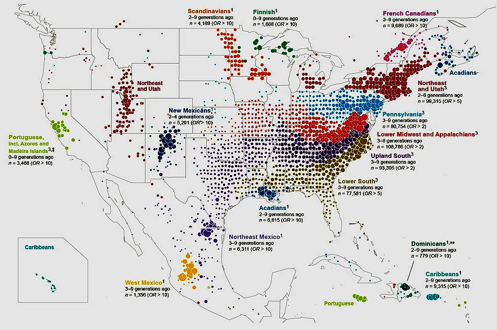 Nov Nd US Migration By DNA The Cellar - Us migration map
