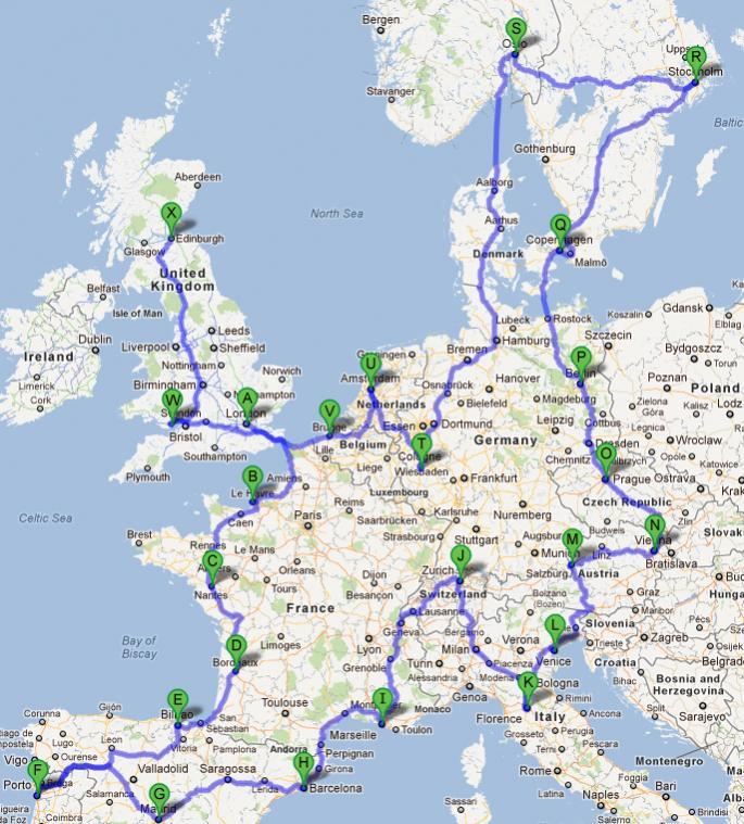 Hypothetical Europe Road Trip The Cellar