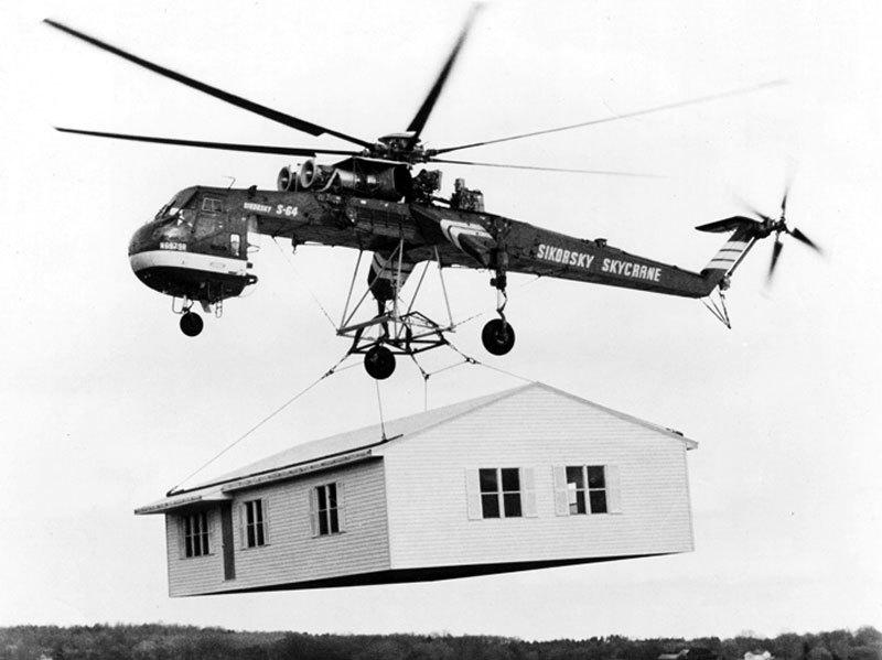 Name:  Sikorsky_Skycrane_carrying_house_bw.jpg Views: 164 Size:  59.9 KB