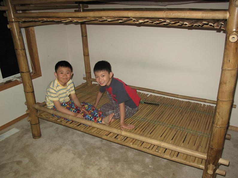 Diy Bamboo Bunk Bed The Cellar